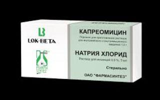 Сульфат капреомицина — инструкция по применению, аналоги, как не допустить осложнений при применении