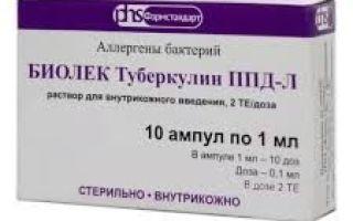 Состав и инструкция по применению туберкулина